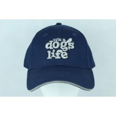 IT'S A DOGS LIFE CAP NAVY