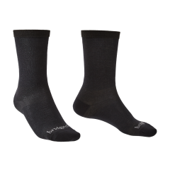Bridgedale Mens 2 Pack Coolmax Liner Boot Sock Black