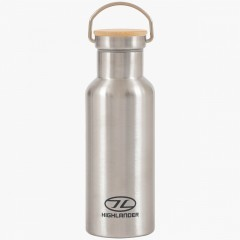 Highlander 500ml Campsite Bottle Silver