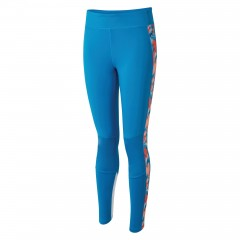 Dare2b Ladies Curvate Leggings Petrol Blue/Fiery Coral