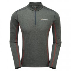 Montane Mens Dart Zip Neck Shadow