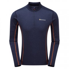 Montane Mens Dart Zip Neck Antarctic Blue