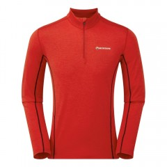 Montane Mens Dart Zip Neck Alpine Red