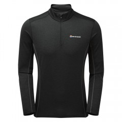 Montane Mens Dart Zip Neck Black