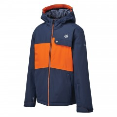 Regatta Kids Enigmatic Insulated Waterproof JacketDenim/Blaze