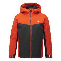 Dare2b Kids In The Lead Waterproof Jacket Trail Blaze Red/ Ebony Grey