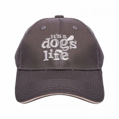 ITS A DOGS LIFE CAP CHARCOAL