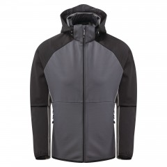 Dare2b Mens Endure Soft Shell Jacket Ebony Grey/Black
