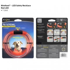 NiteHowl Dog LED Safety Necklace Red