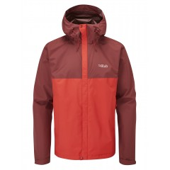 RAB MENS DOWNPOUR ECO JACKET DEEP HEATHER/ASCENT RED