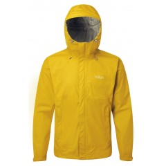 Rab Mens Downpour Jacket Sulphur