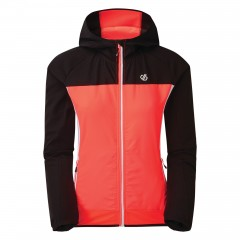 Dare2b Ladies Duplicity Soft Shell Jacket Fiery Coral/Black