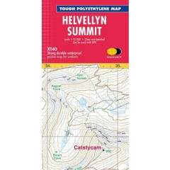 Harveys Helvellyn Summit Map
