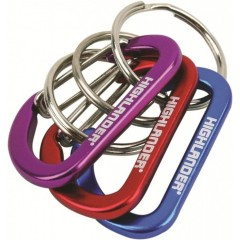 Highlander 3 Pack Karabiner Keyrings