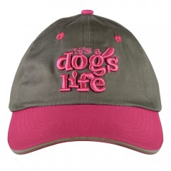 ITS A DOGS LIFE CAP GREY/PINK