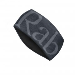 RAB LOGO KNITTED HEADBAND ANTHRACITE/GRIT