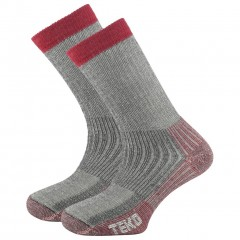 Teko Merino Ladies Mid Hiking Sock - Cranberry