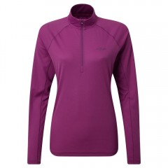Rab Ladies Pulse Long Sleeve Zip Top Violet