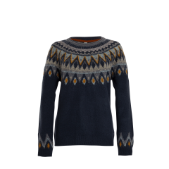 Weird Fish Ladies Liza Fair Isle Jumper Navy