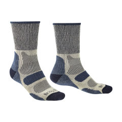 Bridgedale Mens Hike Lightweight Cotton Boot Sock Indigo