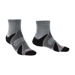 Bridgedale Mens Trail Sport Lightweight Ankle Sock Silver/Black