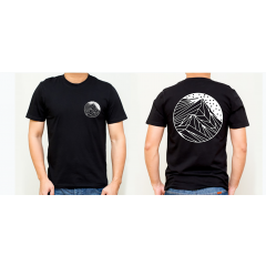 GYOW Mens Helvellyn Graphic Tee Black