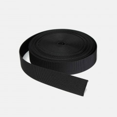 25mm Black Webbing By The Meter