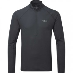 Rab Pulse Long Sleeve Zip Top Ebony