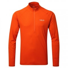Rab Pulse Long Sleeve Zip Top Firecracker