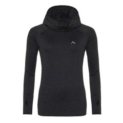 Ascendancy Apparel Ladies Resurgent Hooded Mid Layer Slate Black