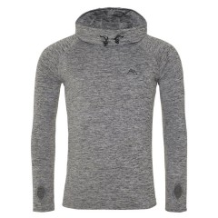 Ascendancy Apparel Mens Resurgent Hooded Mid Layer Stone Grey