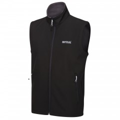 Regatta Mens Bradwell Soft Shell Gilet Black