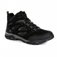 Regatta Mens Holcombe Mid Waterproof Walking Boot Black/Granite