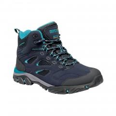 Regatta Ladies Holcombe Mid Waterproof Walking Boot Navy/Azure Blue