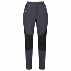 Regatta Ladies Stretch Mountain Trousers Seal Grey/Black