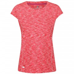 Regatta Ladies Hyperdimension Tee Neon Pink/White