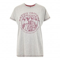 Weird Fish Ladies Shreya Tee Grey Marl