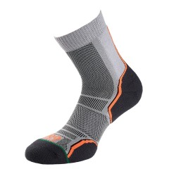 1000 Mile Mens Trail Running Socks 2 Pack Grey/Orange