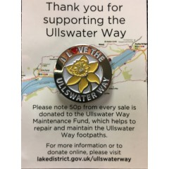 I Love The Ullswater Way Pin Badge
