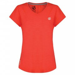 Dare2b Ladies Vigilant Tee Fiery Coral