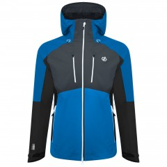 DARE2B MENS SOARING JACKET ATHLETIC BLUE/EBONY GREY/BLACK