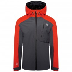 DARE2B MENS DILUENT JACKET TRAIL BLAZE/EBONY GREY/BLACK
