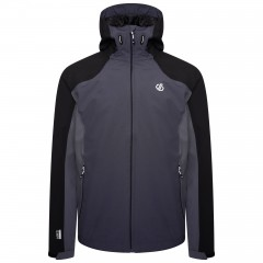 DARE2B MENS RECODE JACKET BLACK/EBONY GREY/DARK STORM