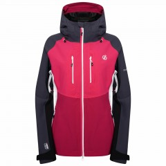DARE2B LADIES DIVERSE JACKET ACTIVE PINK/BLACK/EBONY GREY