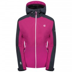 DARE2B LADIES COMPETE JACKET ACTIVE PINK/EBONY GREY