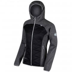 Regatta Ladies Andreson Hybrid Hooded Jacket Black/Grey