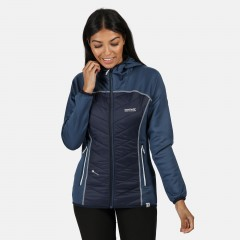 Regatta Ladies Andreson Hybrid Hooded Jacket Dark Denim/Navy
