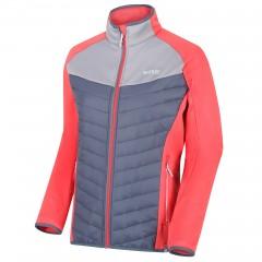 Regatta Ladies Bestla Hybrid Jacket Red Sky/Onyx Grey