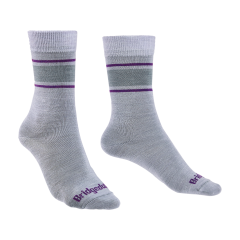 Bridgedale Ladies Merino Liner Sock Grey/Purple