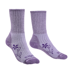 Bridgedale Ladies Hike Midweight Merino Comfort Boot Sock Violet